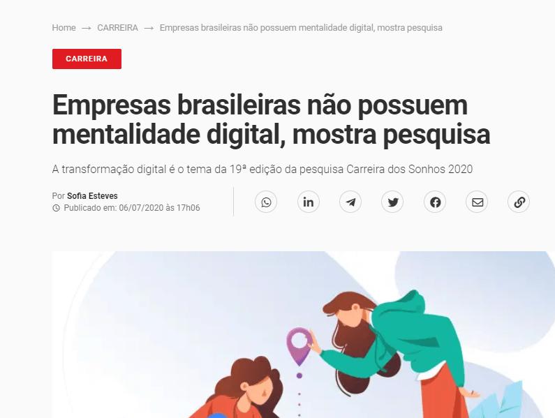 transformacao digital empresas brasileiras pesquisa 2020 - Empresas brasileiras não possuem mentalidade para Transformação Digital